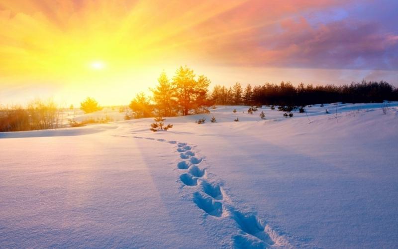 закат над снежной степью  № 831872  скачать