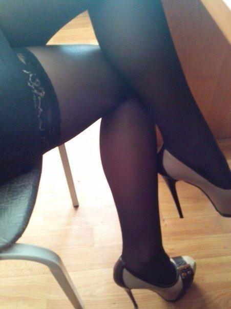 ножки в колготках частное фото