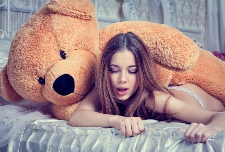 Bear секс с девушкой
