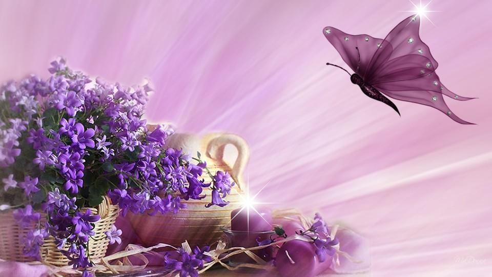 Фон фиолетовый для открытки с днем рождения, картинки звездочек открытки