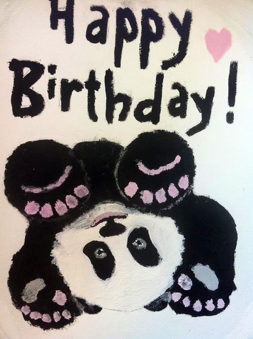 Открытки с пандами на день рождения