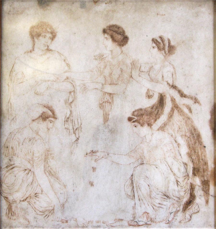 Фреска с изображением Латоны,Ниобы,Фебы,Гилайеры и