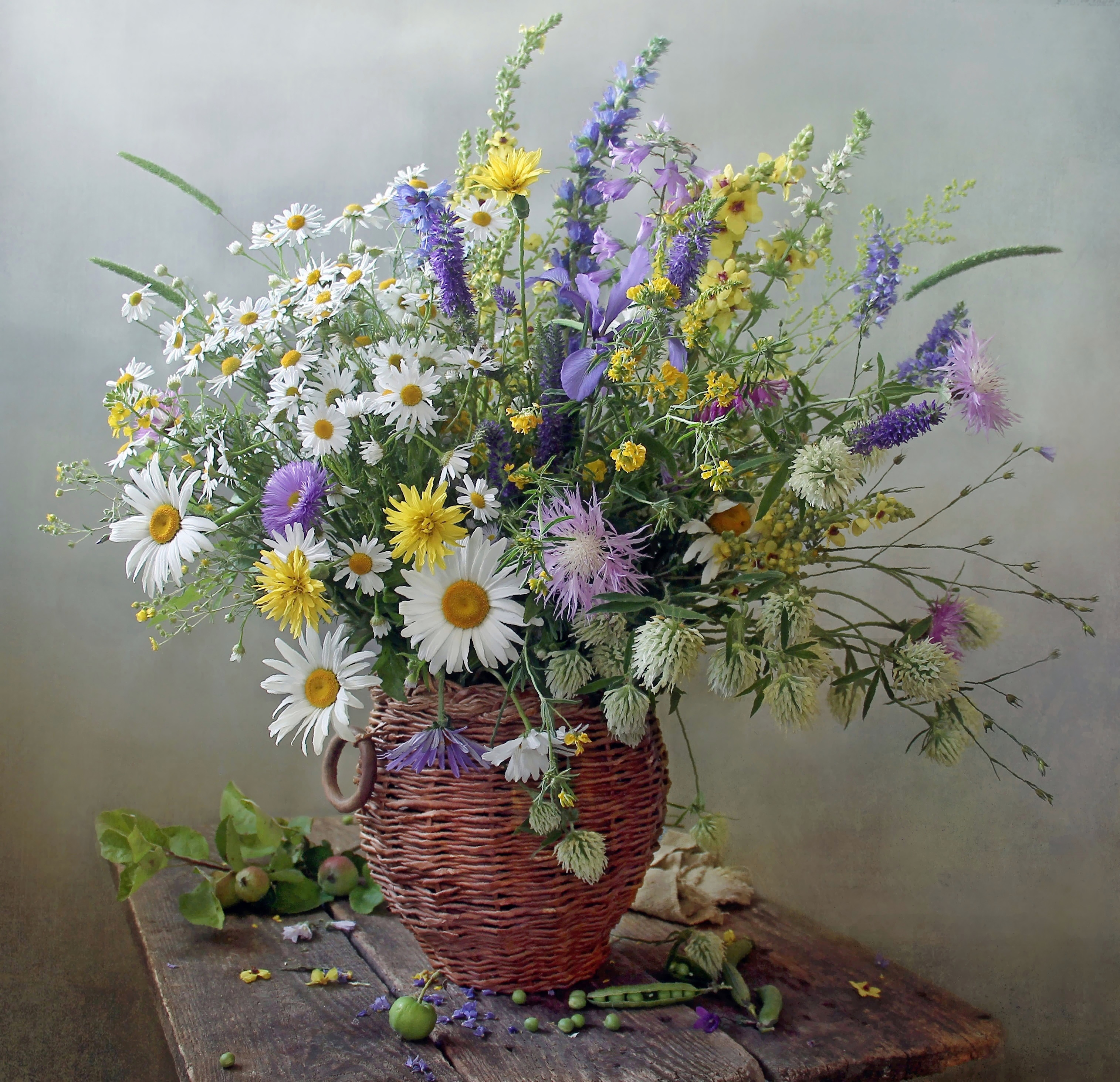 Полевые цветы букеты шедевры